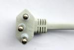巴西电源线NBR 14136三芯弯角插头,巴西安规标准TUV,Inmetro,UC认证电源连接线插头