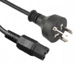 阿根廷电源线 (IRAM电源线) 三芯阿根廷插头,IEC 60320 C15 凹槽品子尾,电脑插,定制电源线长度,IRAM认证,安规标准AC电源连接线