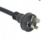 澳大利亚电源线(澳大利亚八字尾电源线)两芯奥标插头,IEC 60320 C7八字尾插座 ,澳大利亚SAA认证规标准AC电源连接线