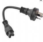 澳大利亚电源线(SAA电源线)三芯奥标10A插头,IEC 60320 C5 米老鼠,梅花尾,笔记本插座,澳大利亚SAA认证规标准AC电源连接线
