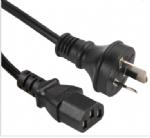 澳大利亚电源线(SAA电源线)三芯奥标10A插头,IEC 60320 C13 品子尾,电脑插,澳大利亚SAA认证安规标准AC电源连接线