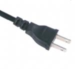 日本电源线 (PSE电源线)两芯直插PSE JET 认证JIS 8303 安规标准AC电源连接线插头