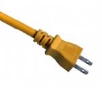 日本电源线 (PSE电源线)两芯15A插头PSE JET 认证JIS 8303安规标准AC电源连接线插头