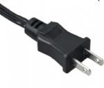 日本电源线 (PSE电源线) 日本PSE JET认证两芯15A直角JIS C8303标准AC电源连接线插头