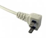 日本电源线 (PSE电源线)两芯弯角插头 PSE JET 认证JIS 8303安规标准AC电源连接线插头