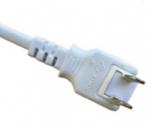日本电源线 (PSE电源线)两芯180度旋转插头PSE JET 认证JIS 8303安规标准AC电源连接线插头