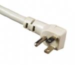 日本电源线 (PSE电源线) 三芯弯头插头JIS C8303标准PSE JET认证AC电源连接线插头
