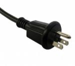 日本电源线 (PSE电源线)三芯户外防雨插头PSE JET 认证JIS 8303安规标准AC电源连接线插头
