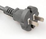 中国电源线 (3C电源线) 国标CCC认证两芯10A直角GB2099标准AC电源连接线插头