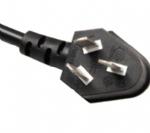 中国电源线 (3C电源线) 国标CCC认证三芯10A弯角蛇形GB2099标准AC电源连接线插头