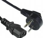 以色列电源线,弯角三芯,16A以色列插头,IEC 60320 C13 品子尾,电脑插 ,定制电线长度,SI-32安规标准,SII认证
