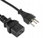 瑞士电源线,三芯SEV 1011 瑞士插头,IEC 60320 C19母插,服务器,数据库,PDU电源线,定制电线长度,SEMKO VDE认证