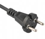 欧洲电源线 CEE7/17 欧盟德国通用VDE安规认证CE电源连接线插头