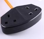 英国电源线 (UK电源线) 英式两孔插座,英标插座,AC电源线插头
