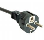 欧洲电源线 (Schuko电源线) CEE7/7直角插 欧盟德国通用VDE安规认证CE电源连接线插头