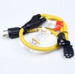 美国延长线转换延长线,L14-30P自锁插头,Y形一转二,两孔20安NEMA 5-20R插座,定制电源线长度,美国UL,加拿大cUL认证