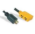美国延长线转换延长线,L14-20P四芯自锁插头,20A四孔插座,定制电源线长度,美国UL,加拿大cUL认证