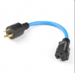 美国延长线 ,加拿大cUL认证,L5-30P自锁插头,美国ULCUL,5-20R插头插座,20A,转换延长线,电源线长度自定,