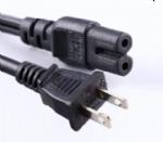美国电源线 (UL电源线) NEMA 1-15P 两芯极化,非极化插头,IEC 60320 C7八字尾插座,美国UL,加拿大cUL认证,安规标准AC电源连接线