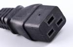 美国电源线,UL电源线,三芯NEMA5-15P北美通用插头,IEC 60320 C19母插,服务器,机房,PDU插座 ,定制电线长度,美国UL,加拿大cUL认证