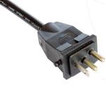 美国电源线三芯,阳光插头,镇流器插头两个接触点,定制电源线长度,美国UL,加拿大cUL认证