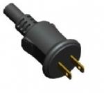 美国电源线 (UL电源线) 两芯防水插头 NEMA 1-15P 美国UL加拿大cUL认证安规标准AC电源连接线