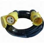 欧洲工业插头电源线延长线32A 110V IP44防水等级工业插头长度颜色均可自定 CE,GS,VDE认证