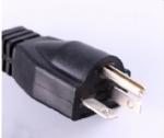 美国电源线 (UL电源线) 医用插头,医用电源线,20A,125V,5-20P,三芯U形接地针插头 ,北美ETL认证安规标准AC电源连接线