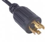 美国电源线 (UL电源线)L15-30P 自锁插头 美国UL加拿大cUL认证安规标准AC电源连接线