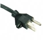 美国电源线 (UL电源线),三芯带卡扣,NEMA 5-15P,美国UL加拿大cUL认证安规标准AC电源连接线插头
