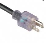 美国电源线 (UL电源线)透明NEMA 5-15P 美国UL加拿大cUL认证安规标准AC电源连接线插头