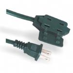 美国延长线(室内延长线)1-15P 两芯三孔插座 北美ETL认证安规标准AC电源延长线