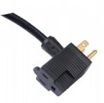 美国电源线 (UL电源线)NEMA 5-15P 尾部带插座,猪尾巴插头美国UL加拿大cUL认证安规标准AC电源连接线
