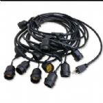灯串,户外防水灯串线两芯,三芯插头,插座 E26,E27灯座美国UL,加拿大cUL,欧洲CE,日本,澳大利亚,安规认证灯串电源线