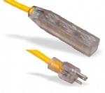 美国延长线(室内延长线)5-15P 透明带灯三孔插座 北美ETL认证安规标准AC电源延长线