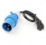 美国延长线转换延长线,16安,250伏,易装配IEC 60309工业插头,NEMA5-15R美式标准插座 ,定制电源线长度,美国UL,加拿大cUL认证